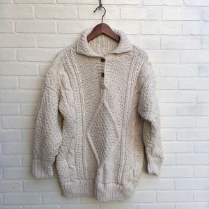 Vintage Handmade Cream Knit Sweater